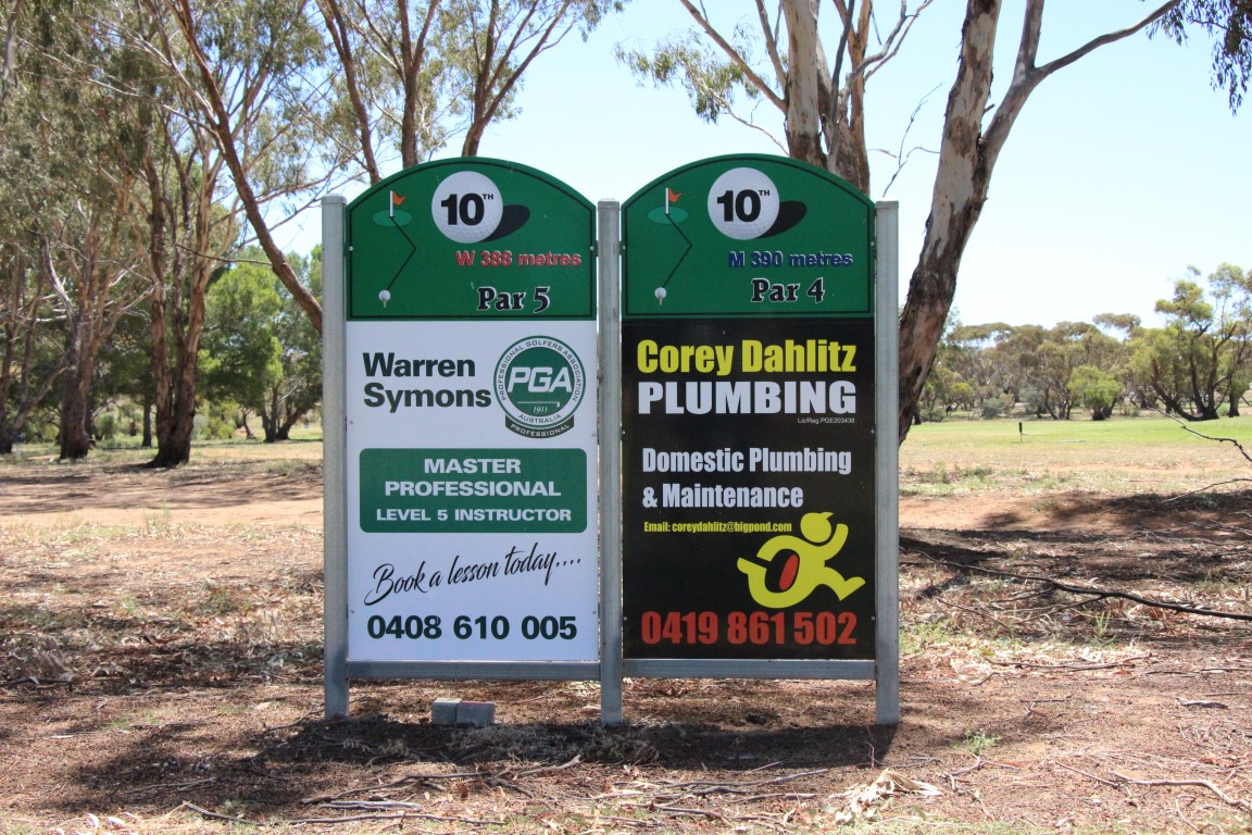 Sponsors - Warren symons pGA Golf Instructor - Corey Dahlitz Plumbing (Medium)